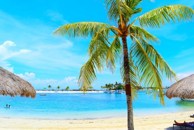 リゾートの浜辺