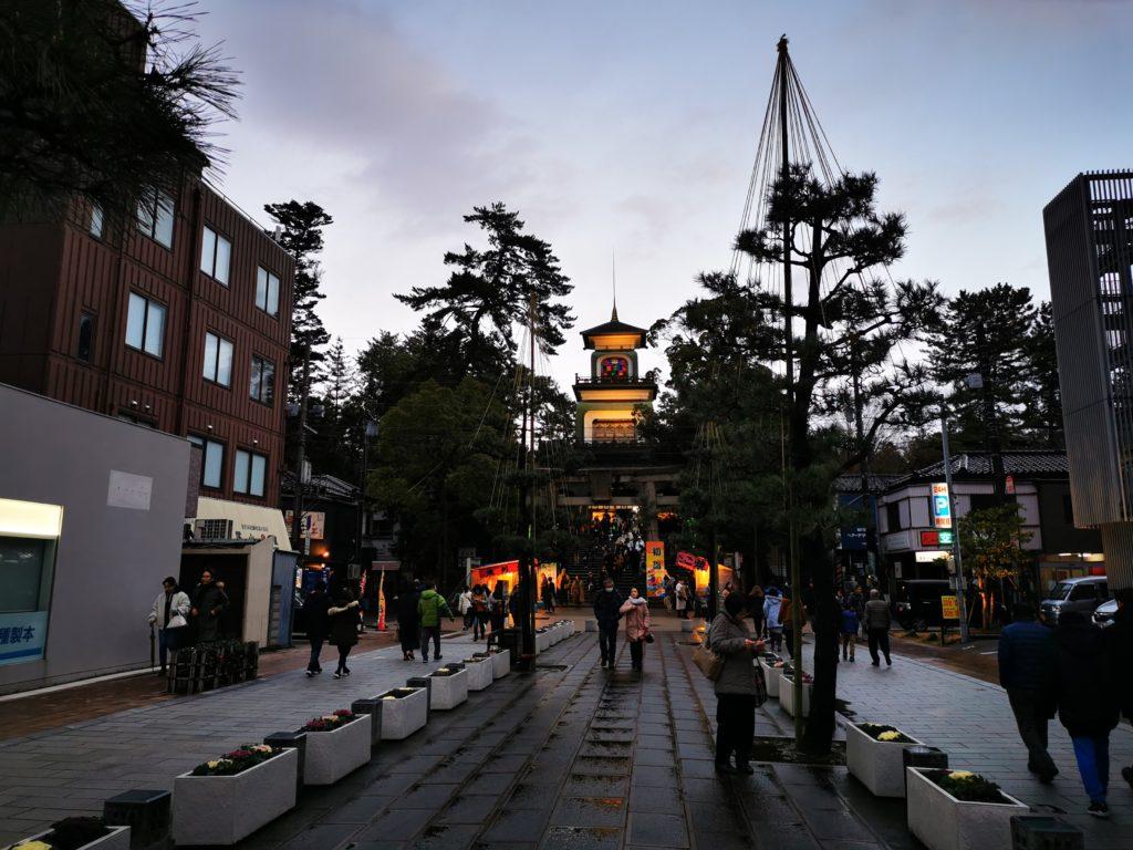 尾山神社ライトアップ