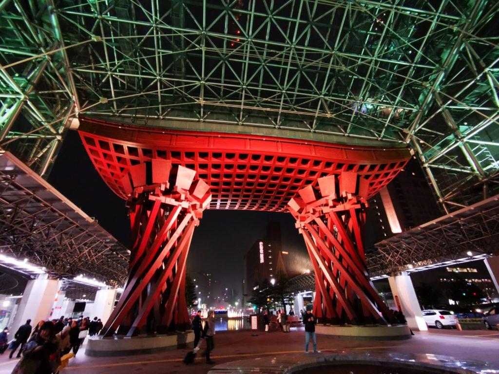 金沢駅ライトアップ