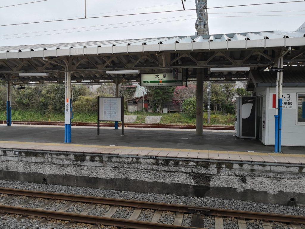 JR大原駅の駅名標