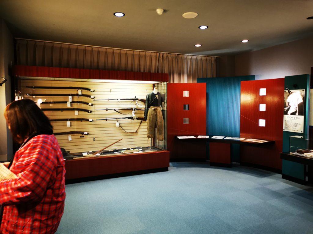マタギ資料館の展示