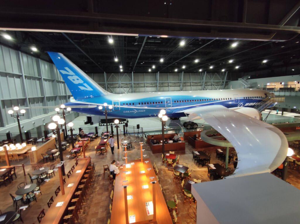 飛行機とレストラン