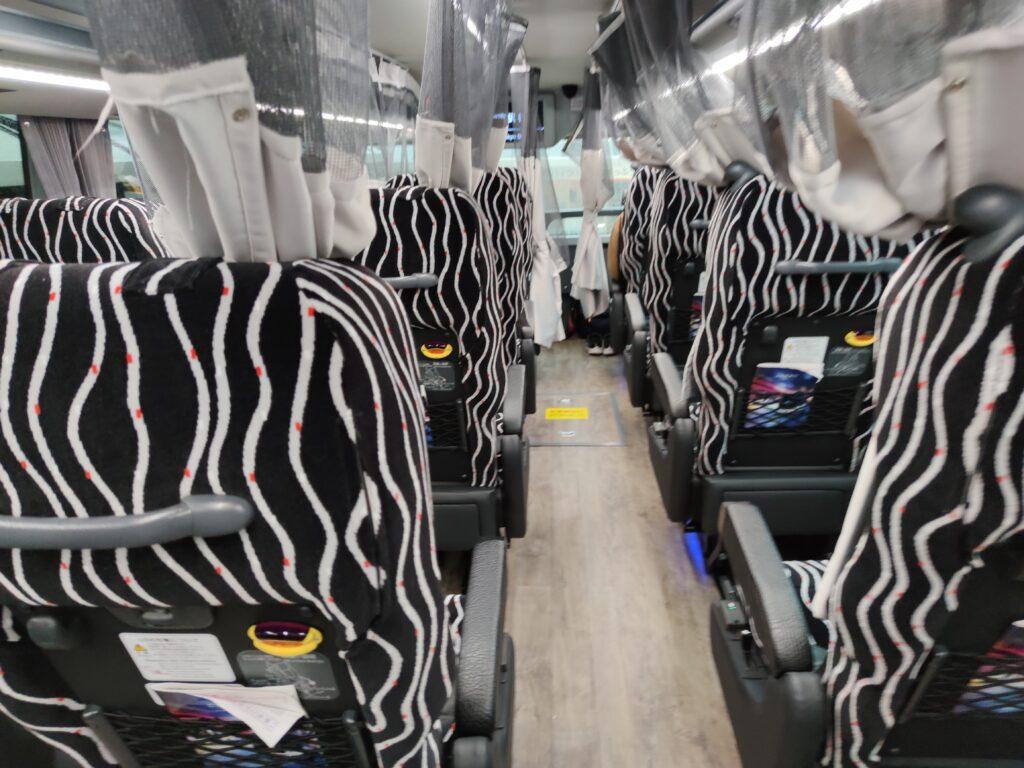 バスの席後ろから