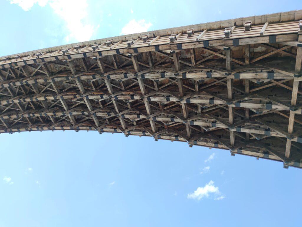 錦帯橋の裏