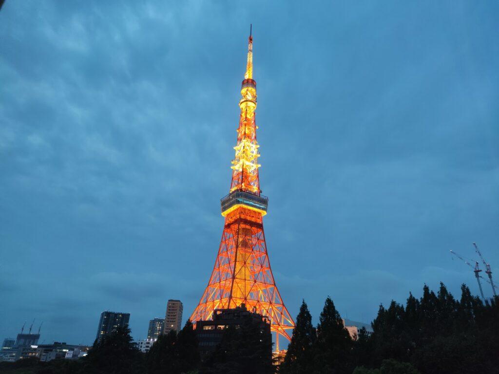 東京タワーのライトアップ