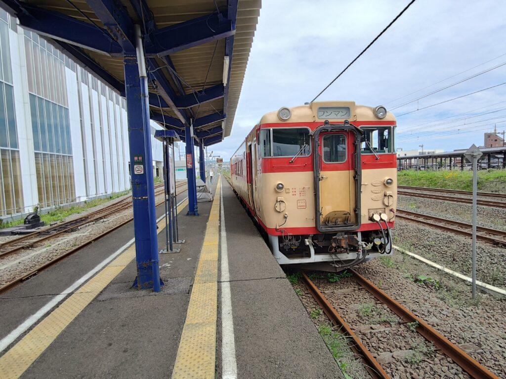 木古内駅到着