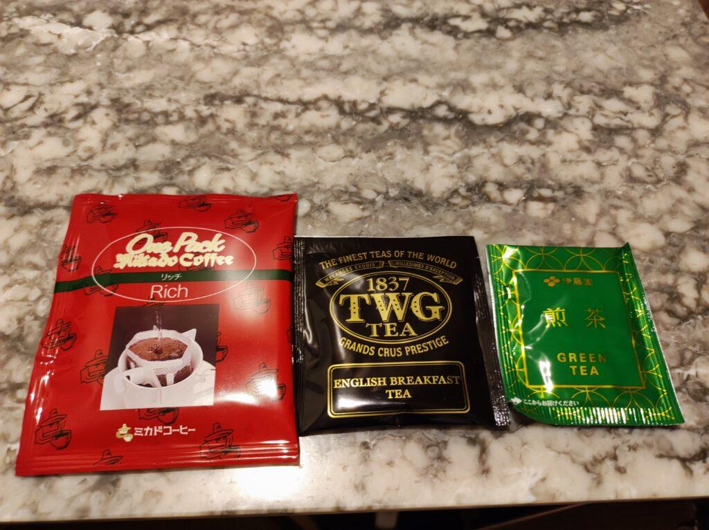 コーヒー&紅茶、緑茶